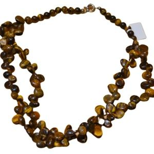 Tiger Eye Natural Stone Necklace